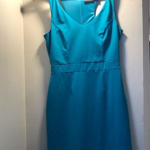 Cynthia Rowley Teal Racerback Cocktail Dress